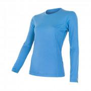 Dámské triko Sensor Merino Wool Active dl.r. světle modrá modrá