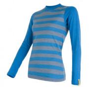 Dámské triko Sensor Merino Wool Active dl.r. modrá modrá pruhy