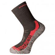 Ponožky Progress P XTR 8MR X-Treme Merino černá/červená