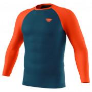 Чоловіча функціональна футболка Dynafit Tour Light Merino M L/S Tee синій/помаранчевий