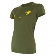 Dámské funkční triko Sensor Merino Wool Swallow kr.r. tmavě zelená safari