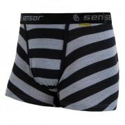 Boxerky Sensor Merino Wool Active černý pruh černá/šedá černé pruhy