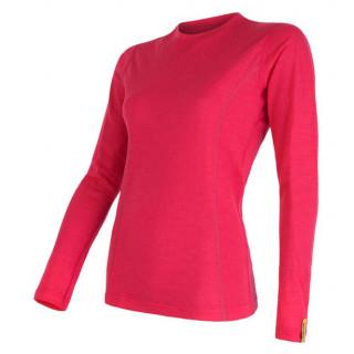 Dámské triko Sensor Merino Wool Active dl.r. růžová magenta