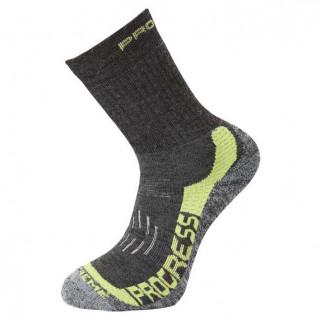 Ponožky Progress P XTR 8MR X-Treme Merino šedá/zelená tm.šedá/zelená